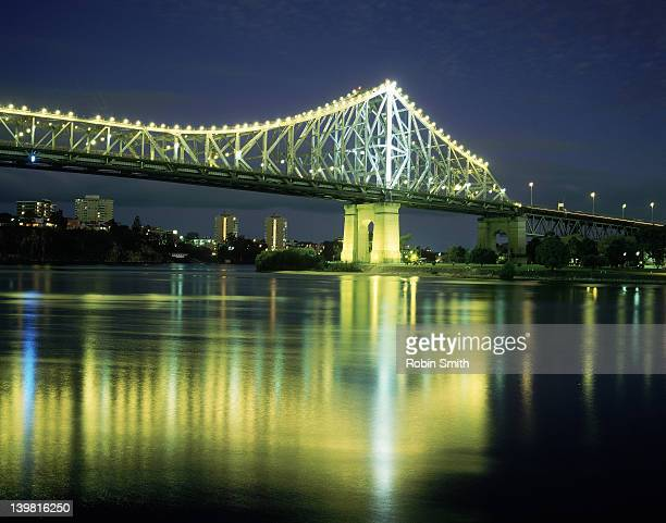 Storey Bridge lit up at night, Brisbane, Queensland, Australia
