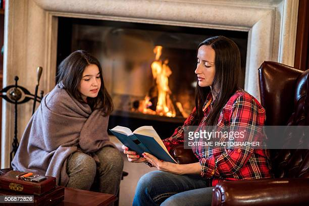 Stories by the fireplace