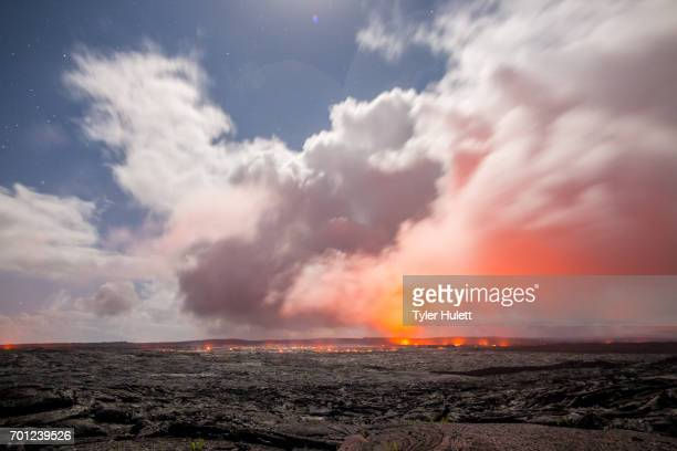Storm and Moonlight on Lava Flow