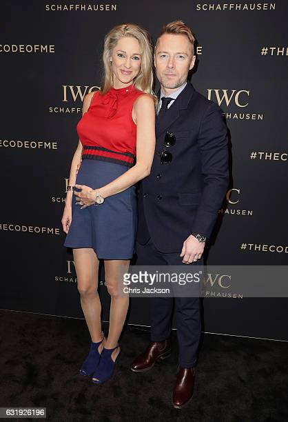 Storm and Ronan Keating visit the IWC booth during the launch of the Da Vinci Novelties from the Swiss luxury watch manufacturer IWC Schaffhausen at...