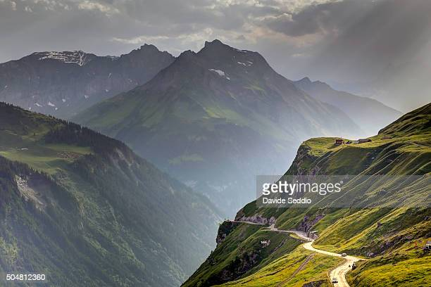 A storm approaching at the Klausenpass