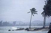 Storm at coastline in Puerto Rico
