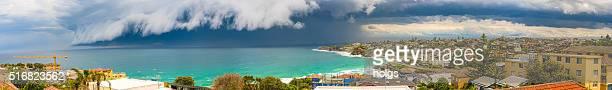 Storm brewing in Bondi Beach in Sydney, Australia