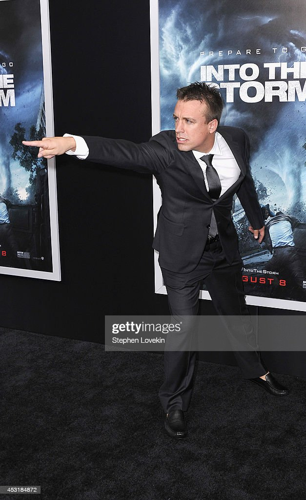 Storm chaser Reed Timmer attends the 'Into The Storm' premiere at AMC Lincoln Square Theater on August 4, 2014 in New York City.