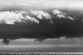 Storm Clouds above Hudson Bay, Nunuavut, Canada