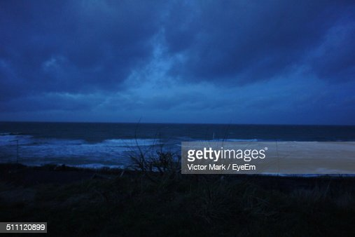 Storm clouds above sea