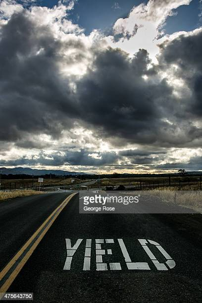 Storm clouds float over Armour Ranch Road in Happy Canyon on May 15 near Santa Ynez California Because of its close proximity to Southern California...
