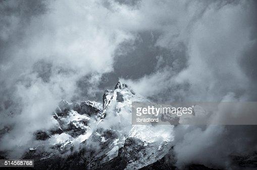Storm Clouds Gather Around A Mountain Near Huaraz In Peru