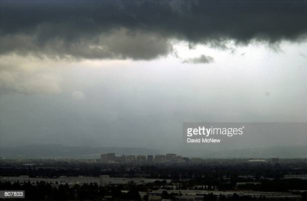 Storm clouds hover over San Jose CA April 19 in oncebooming Silicon Valley which is struggling with a faultering economy A year ago Silicon Valley...
