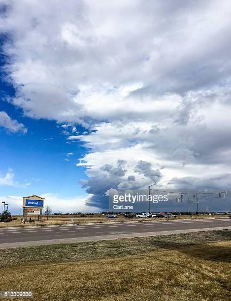 Stürmischen Wolken über Falken, Colorado, VEREINIGTE STAATEN