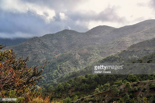 Storm in Troodos mountains