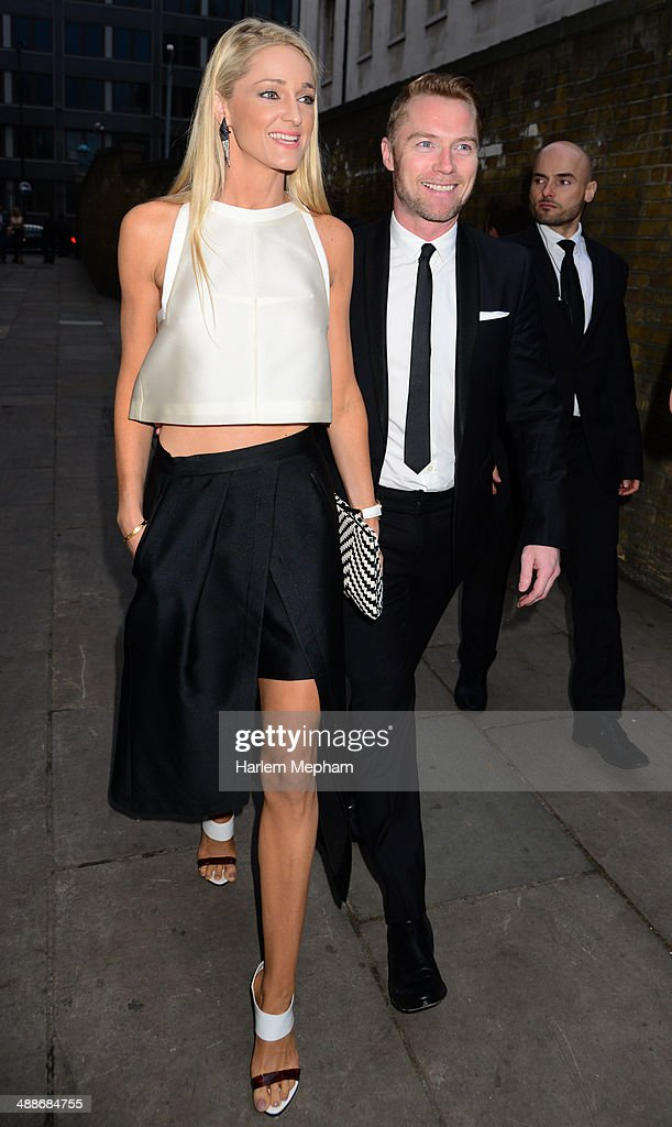 Storm Keating and <a gi-track='captionPersonalityLinkClicked' href=/galleries/search?phrase=Ronan+Keating&family=editorial&specificpeople=201657 ng-click='$event.stopPropagation()'>Ronan Keating</a> arrive at Old Billingsgate for Gabrielle's Gala on May 7, 2014 in London, England.