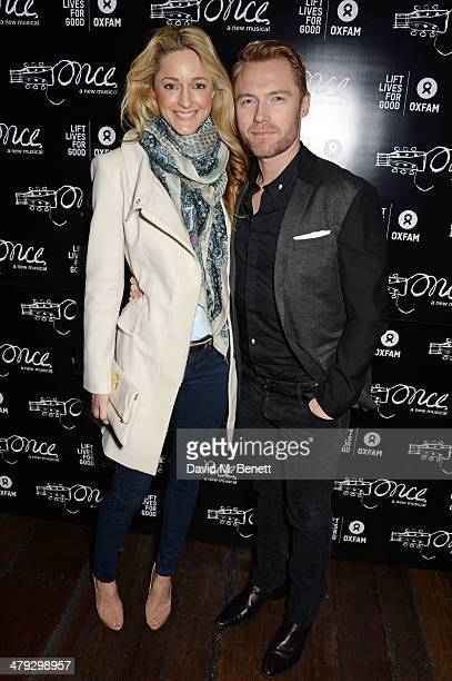 Storm Keating and Ronan Keating attend an after party celebrating the 'Once The Musical' Oxfam Gala at Paramount on March 17 2014 in London England