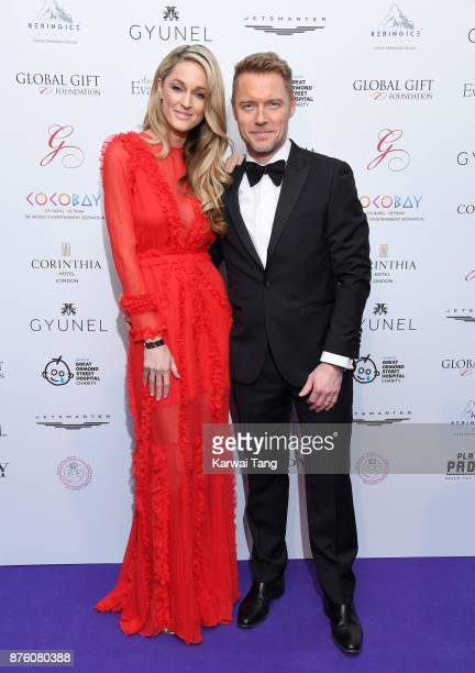 Storm Keating and Ronan Keating attend The Global Gift gala held at the Corinthia Hotel on November 18 2017 in London England