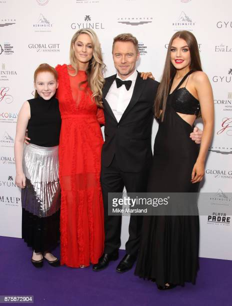 Storm Keating and Ronan Keating attend The Global Gift Gala London held at Corinthia Hotel London on November 18 2017 in London England