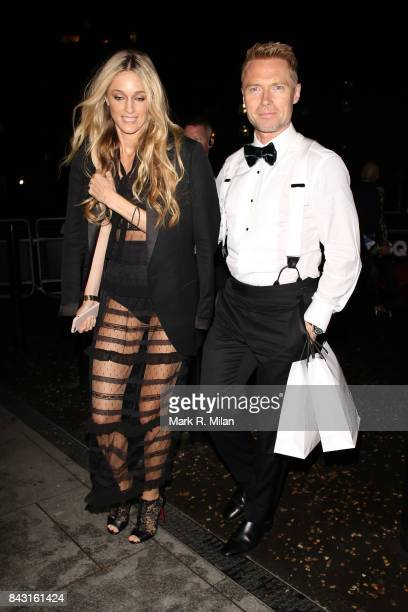 Storm Keating and Ronan Keating attending the GQ awards on September 5 2017 in London England