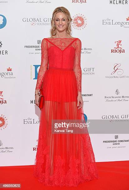 Storm Keating attends The Global Gift Gala at Four Seasons Hotel on November 30 2015 in London England