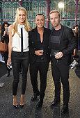 Storm Keating Julien MacDonald and Ronan Keating attend the Julien MacDonald Spring/Summer 2016 Collection during London Fashion Week at Smithfields...