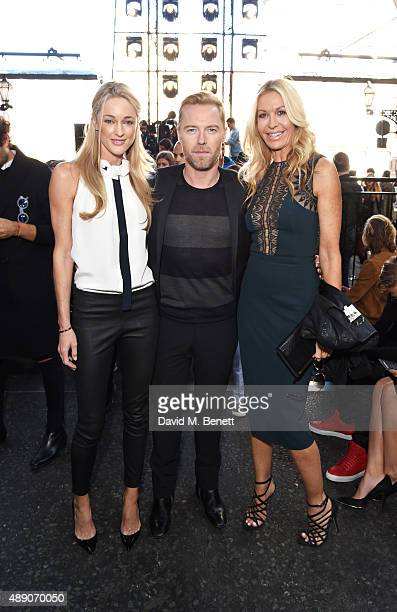 Storm Keating Ronan Keating and Melissa Odabash attend the Julien MacDonald Spring/Summer 2016 Collection during London Fashion Week at Smithfields...