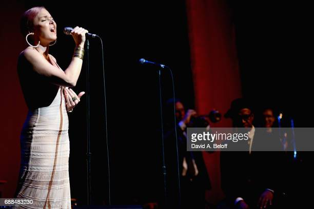 Storm Large performs with Pink Martini at Sandler Center For The Performing Arts on May 25 2017 in Virginia Beach Virginia