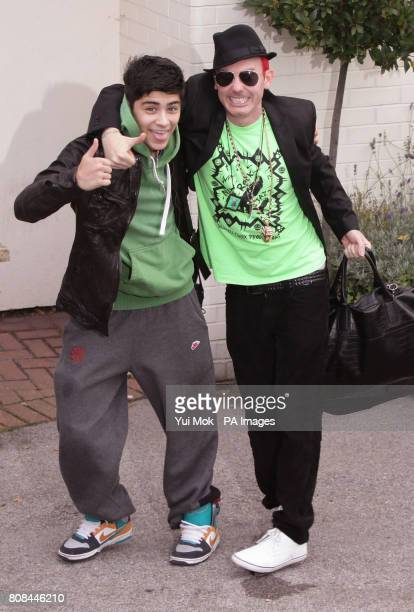 Storm Lee and Zayn Malik arriving for X Factor rehearsals at Fountain Studios in Wembley north London