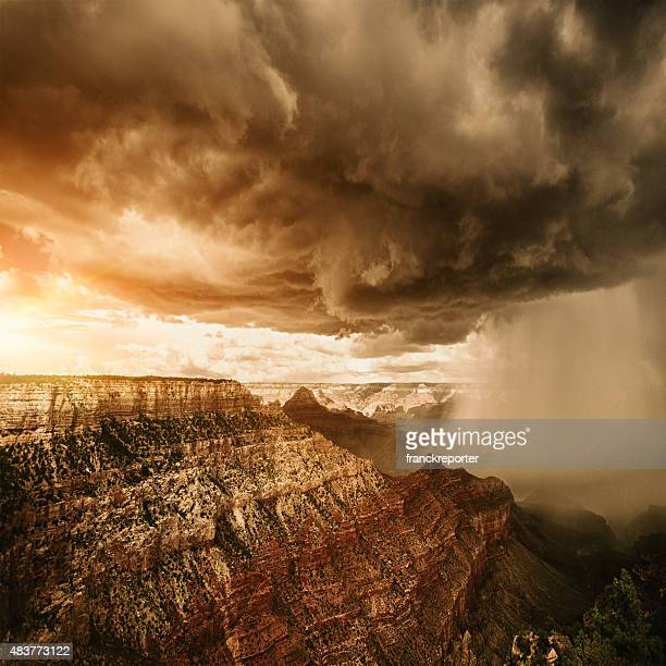 Storm on Grand canyon national park