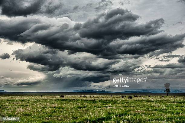 Storm over Jackson Hole valley