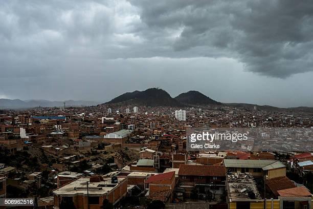 A storm over Sucre Bolivia
