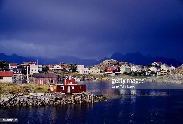 Storm over Svolvær Harbour