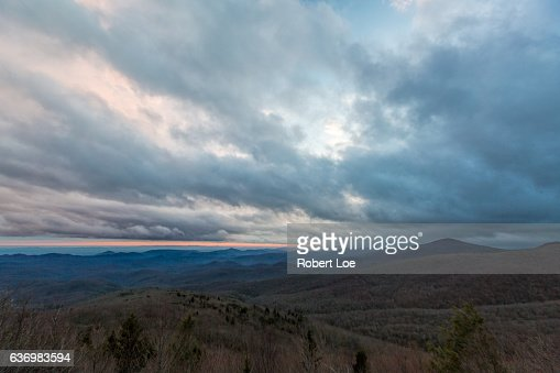 A storm over the Blue Ridge Mountains