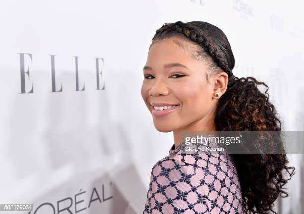 Storm Reid attends ELLE's 24th Annual Women in Hollywood Celebration presented by L'Oreal Paris Real Is Rare Real Is A Diamond and CALVIN KLEIN at...