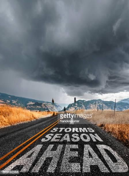 saison des tempêtes à venir