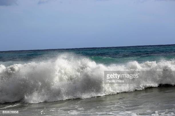 A storm surge occurred in the northern region of Italy Luguria It wasn't possible to take any bath because of the danger