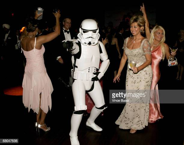 A storm trooper dances at the 33rd AFI Life Achievement Award after party at the Highlands on June 9 2005 in Hollywood California