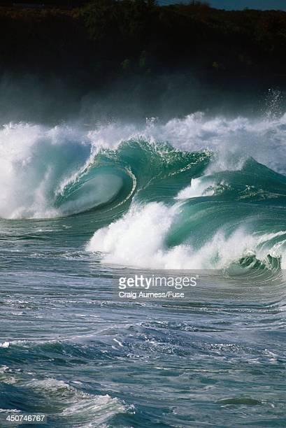 Storm Waves Crashing at Waimea Bay