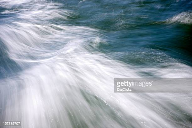 Storm winds at sea with ocean and white whirlwinds