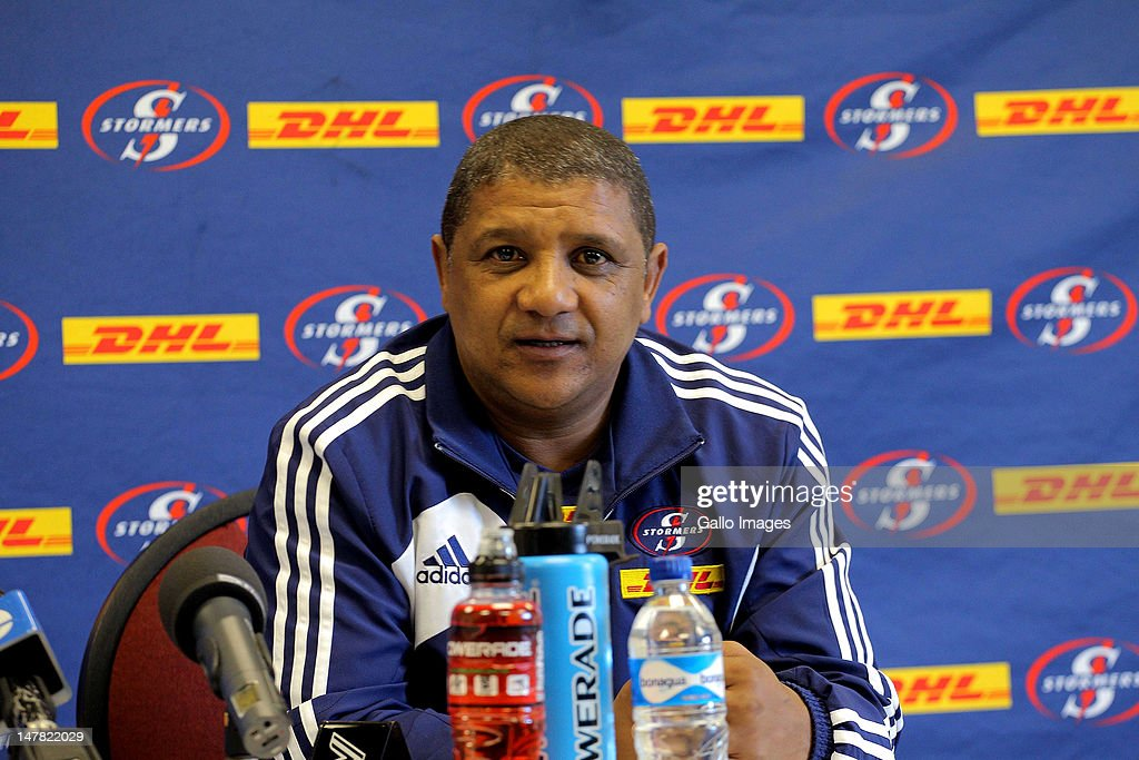 Stormers coach, Allister Coetzee during a DHL Stormers press conference at the High Performance Centre in Bellville on July 04, 2012 in Cape Town, South Africa.