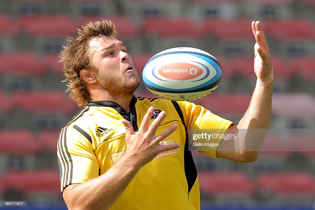 Stormers eightman Duane Vermeulen during the DHL Stormers training session at DHL Newlands on March 27, 2013 in Cape Town, South Africa.