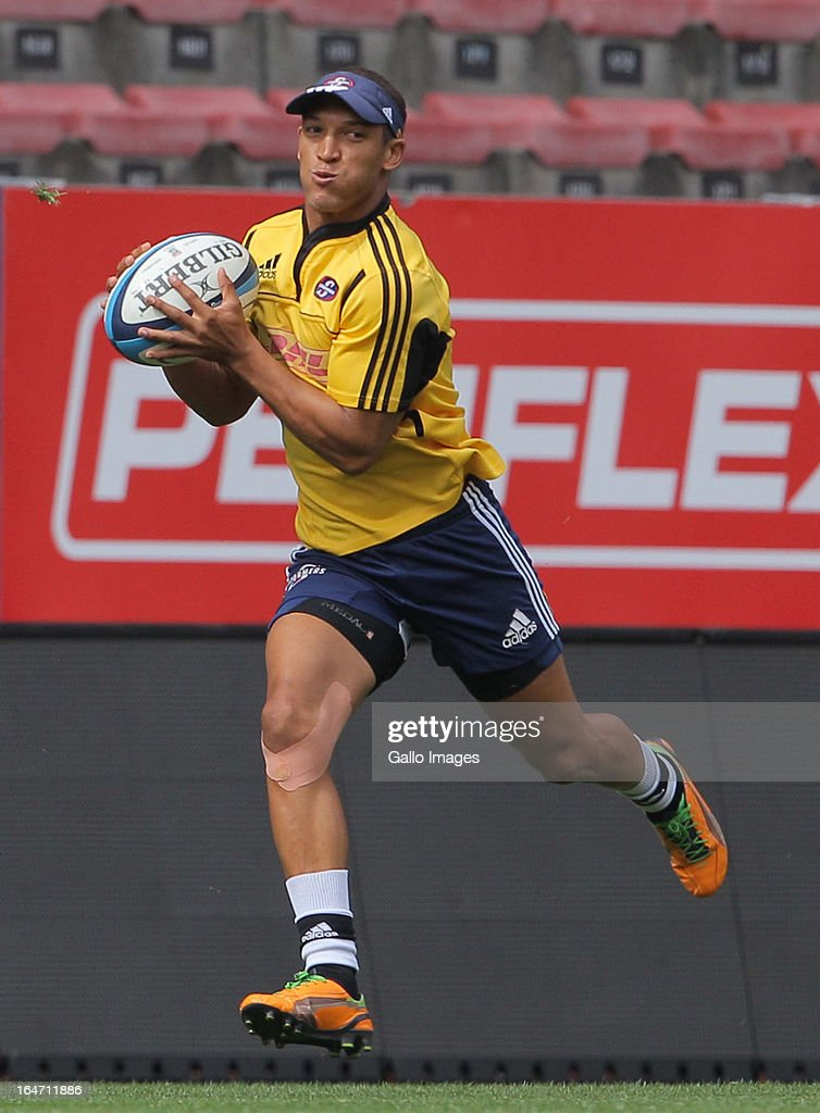 Stormers fullback Joe Pietersen during the DHL Stormers training session at DHL Newlands on March 27, 2013 in Cape Town, South Africa.