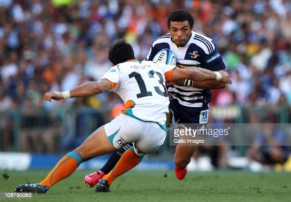Stormers wing Bryan Habana in action during the Vodacom Super Rugby match between DHL Stormers and Toyota Cheetahs at DHL Newlands Stadium on March...
