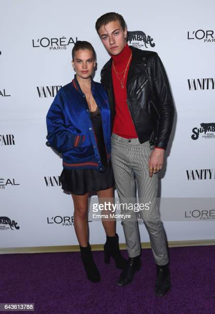 Stormi Bree and model Lucky Blue Smith attend Vanity Fair and L'Oreal Paris Toast to Young Hollywood hosted by Dakota Johnson and Krista Smith at...
