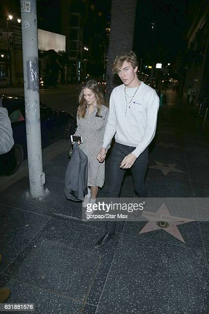 Stormi Bree Henley and Lucky Blue Smith are seen on January 16 2017 in Los Angeles