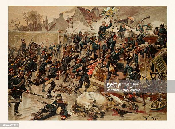 Storming Of The Great Barricade At The Entrance Of Le Bourget By The 3rd Gardegrenadier Regiment 'queen Elisabeth' On The 30th Of October 1870 The...