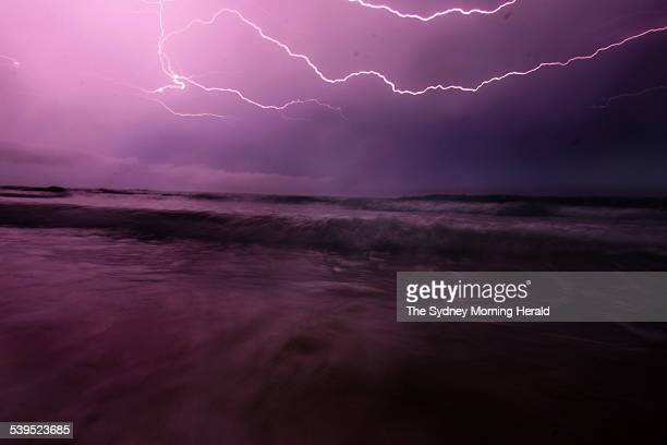 Storms powered through the Illawarra and the New South Wales south coast on 1 February 2005 This picture was taken at 730pm at Currarong east of...