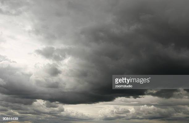 Stormy and cloudy dark sky background