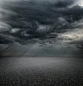 Stormy carpark