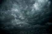 Dark stormy clouds for background.