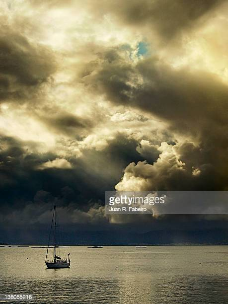 Stormy cloudy over sea