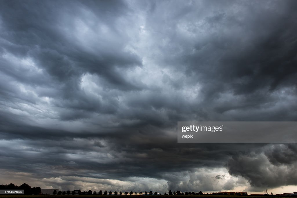 'Stormy, dramatic and dangerous cloudy sky'