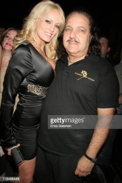 Stormy Daniels and Ron Jeremy during Ron Jeremy's Birthday Bash Celebration March 10 2007 at Element in Hollywood California United States